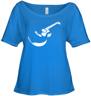 Cool white acoustic guitar - Bella + Canvas Women's Slouchy Tee