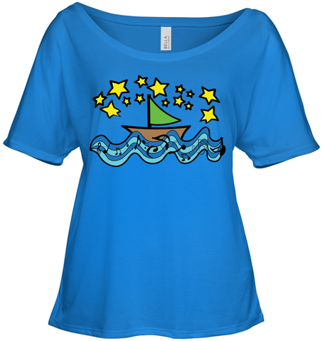 Sailing Under the Stars - Bella + Canvas Women's Slouchy Tee