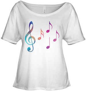 Colorful Notes - Bella + Canvas Women's Slouchy Tee