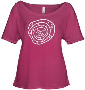 Notes in a Swirl - Bella + Canvas Women's Slouchy Tee