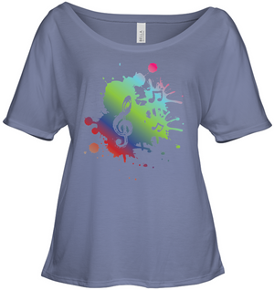 A Colorful Splash of Music - Bella + Canvas Women's Slouchy Tee