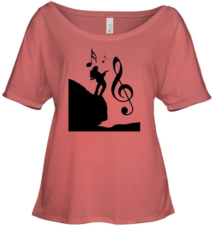 Playin Guitar on the Hill - Bella + Canvas Women's Slouchy Tee