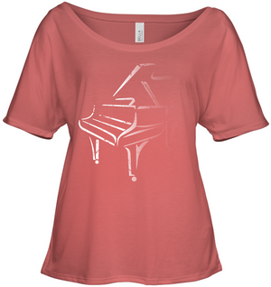 White Piano in the Shadows - Bella + Canvas Women's Slouchy Tee