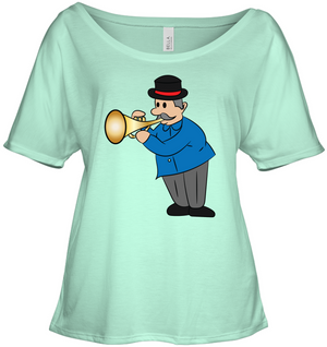Man with Trumpet - Bella + Canvas Women's Slouchy Tee