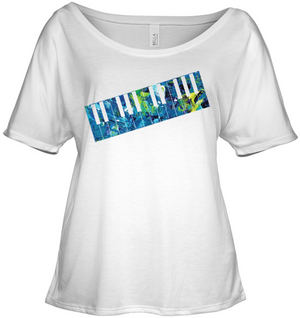 Keyboard Art - Bella + Canvas Women's Slouchy Tee