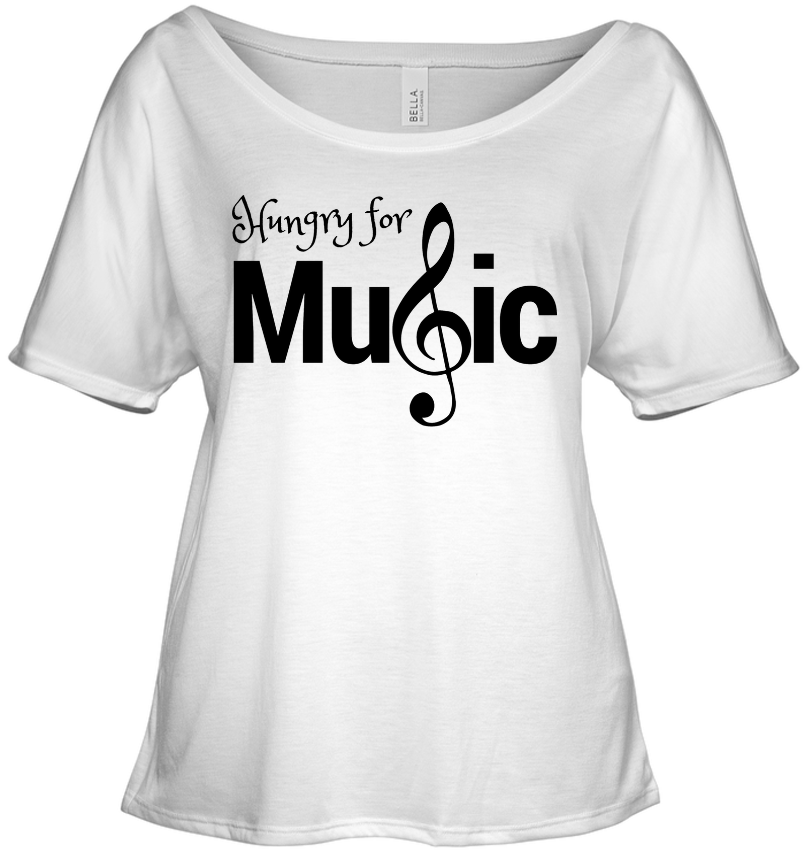 Hungry for Music - Bella + Canvas Women's Slouchy Tee