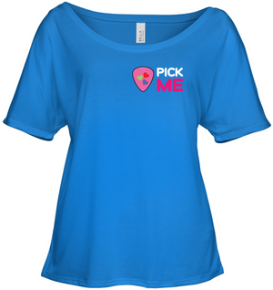 Pick Me (Pocket Size) - Bella + Canvas Women's Slouchy Tee
