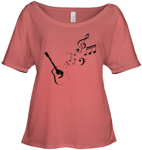 Guitar Tunes  - Bella + Canvas Women's Slouchy Tee