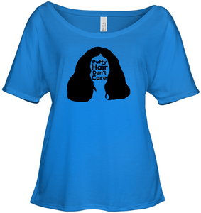Puffy Hair Don't Care, Sophie - Bella + Canvas Women's Slouchy Tee