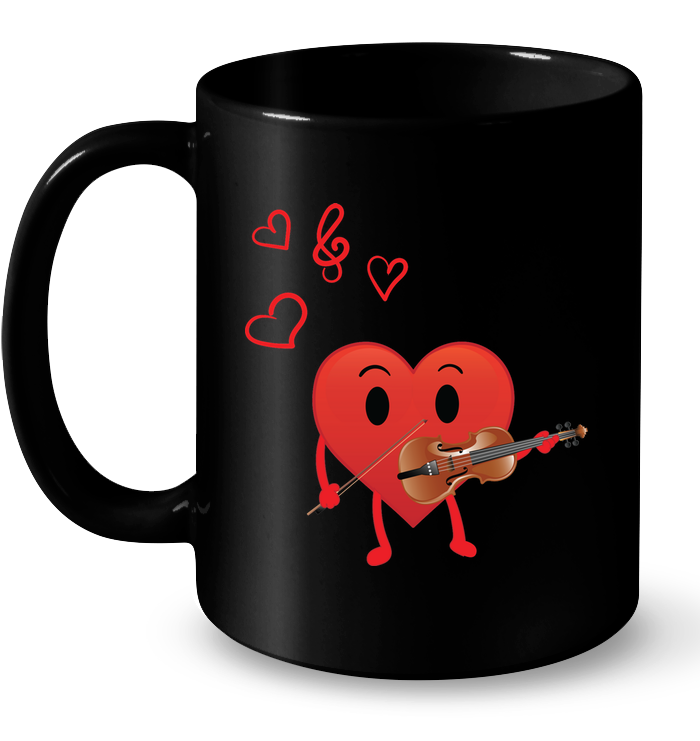 Heart Playing Violin  - Ceramic Mug