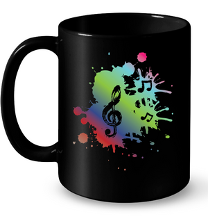 A Colorful Splash of Music - Ceramic Mug