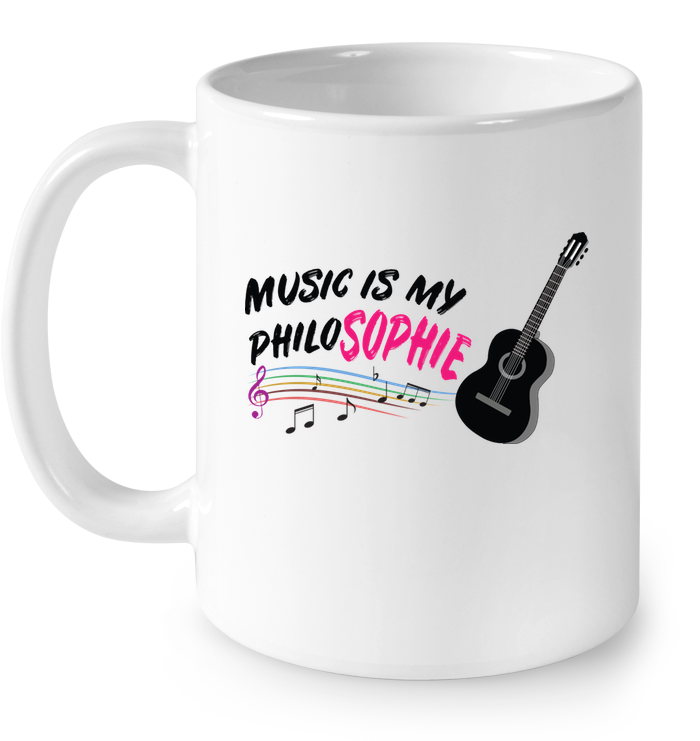 Music is my Philo-Sophie Colorful + Guitar - Ceramic Mug