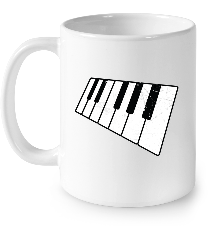 Floating Piano Keyboard - Ceramic Mug