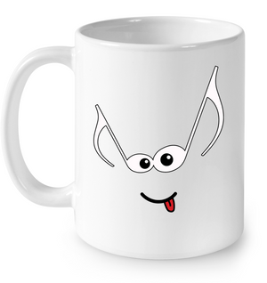 Mischievous Note Face  - Ceramic Mug