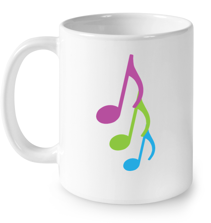 Three colorful musical notes - Ceramic Mug