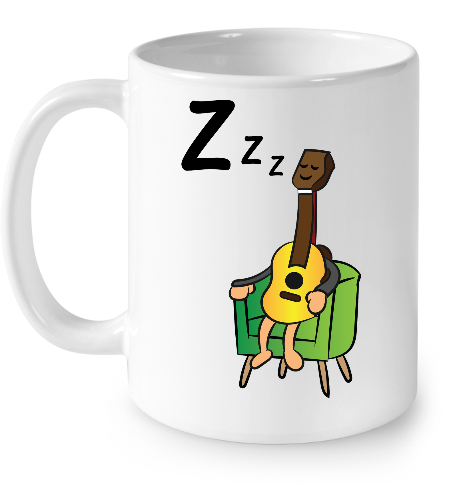 Sleeping Guitar - Ceramic Mug