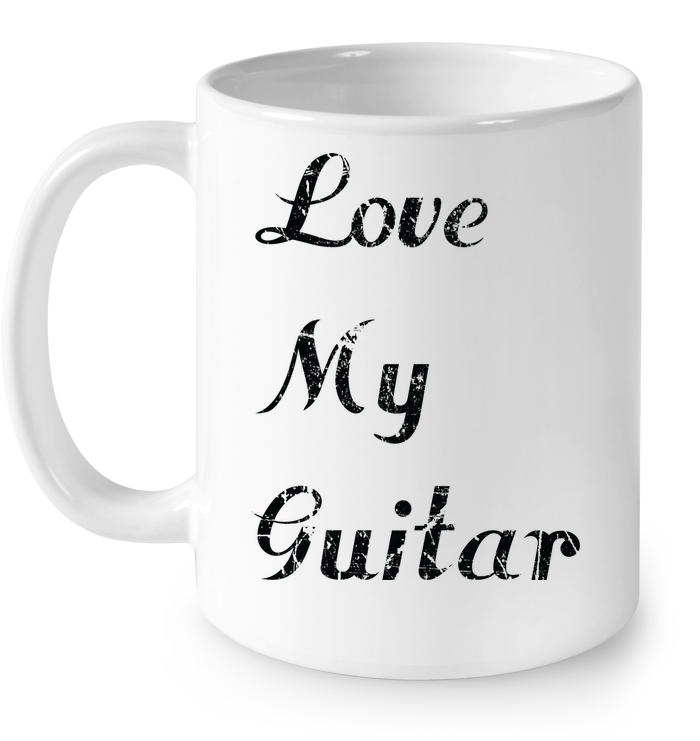 Love My Guitar simple and true - Ceramic Mug