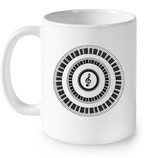 Piano Keys Circle - Ceramic Mug
