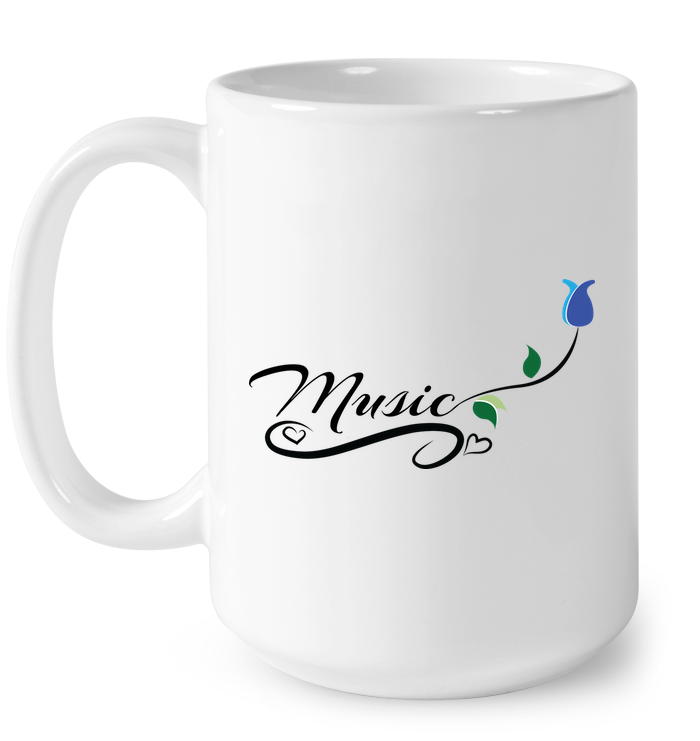 Music and Tulips - Ceramic Mug