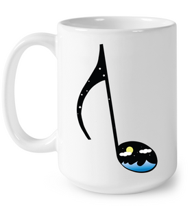 Night Seas Note - Ceramic Mug