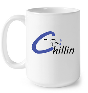 Chillin enjoying music - Ceramic Mug