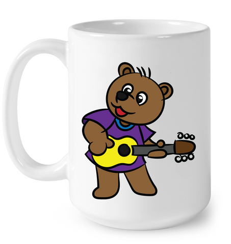 Bear Playing Guitar - Ceramic Mug