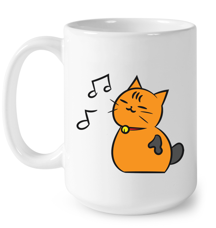 Singing Kitty - Ceramic Mug