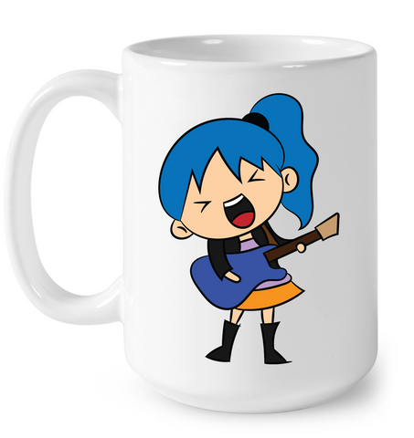 Girl Singin with Guitar - Ceramic Mug