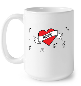 Musical Heart  - Ceramic Mug
