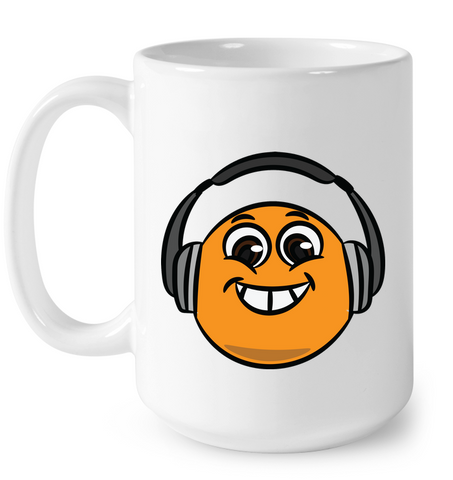 Eager Orange with Headphone - Ceramic Mug