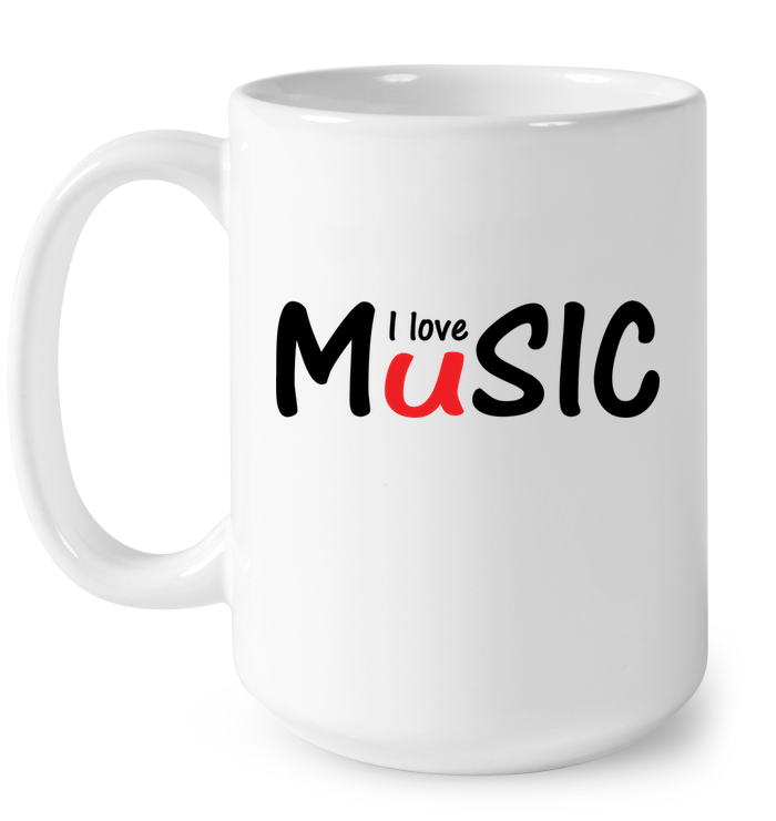 I love Music plain and simple - Ceramic Mug