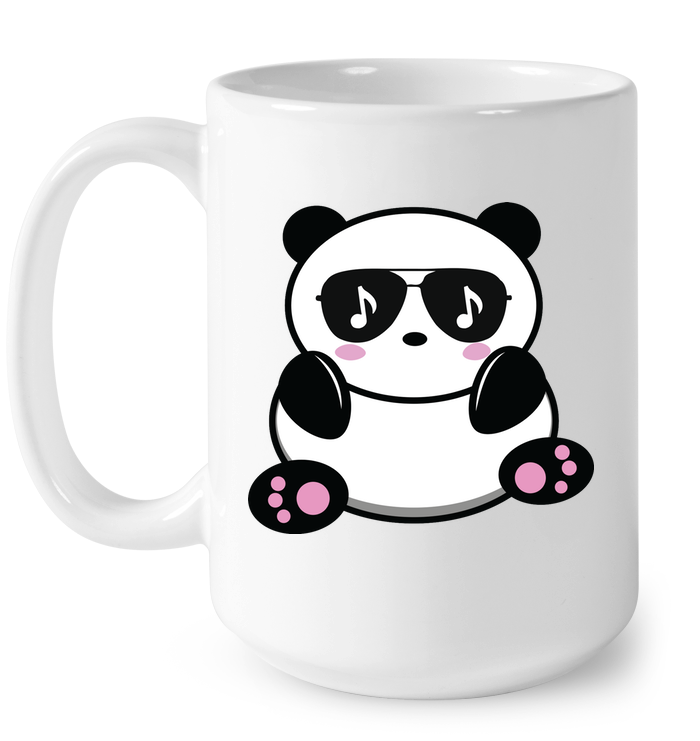 Cool Music Loving Panda feeling the beat - Ceramic Mug