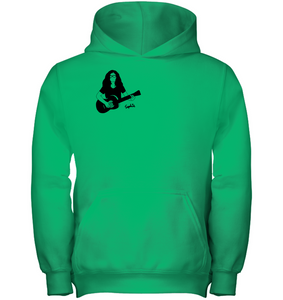 Playin My Guitar, Sophie (Pocket Size) - Gildan Youth Heavyweight Pullover Hoodie