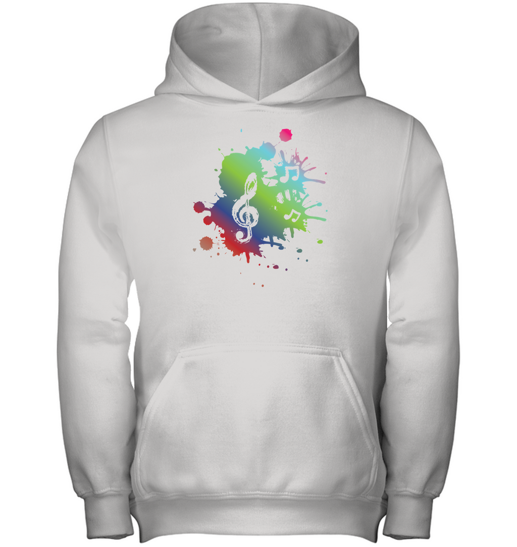 A Colorful Splash of Music - Gildan Youth Heavyweight Pullover Hoodie