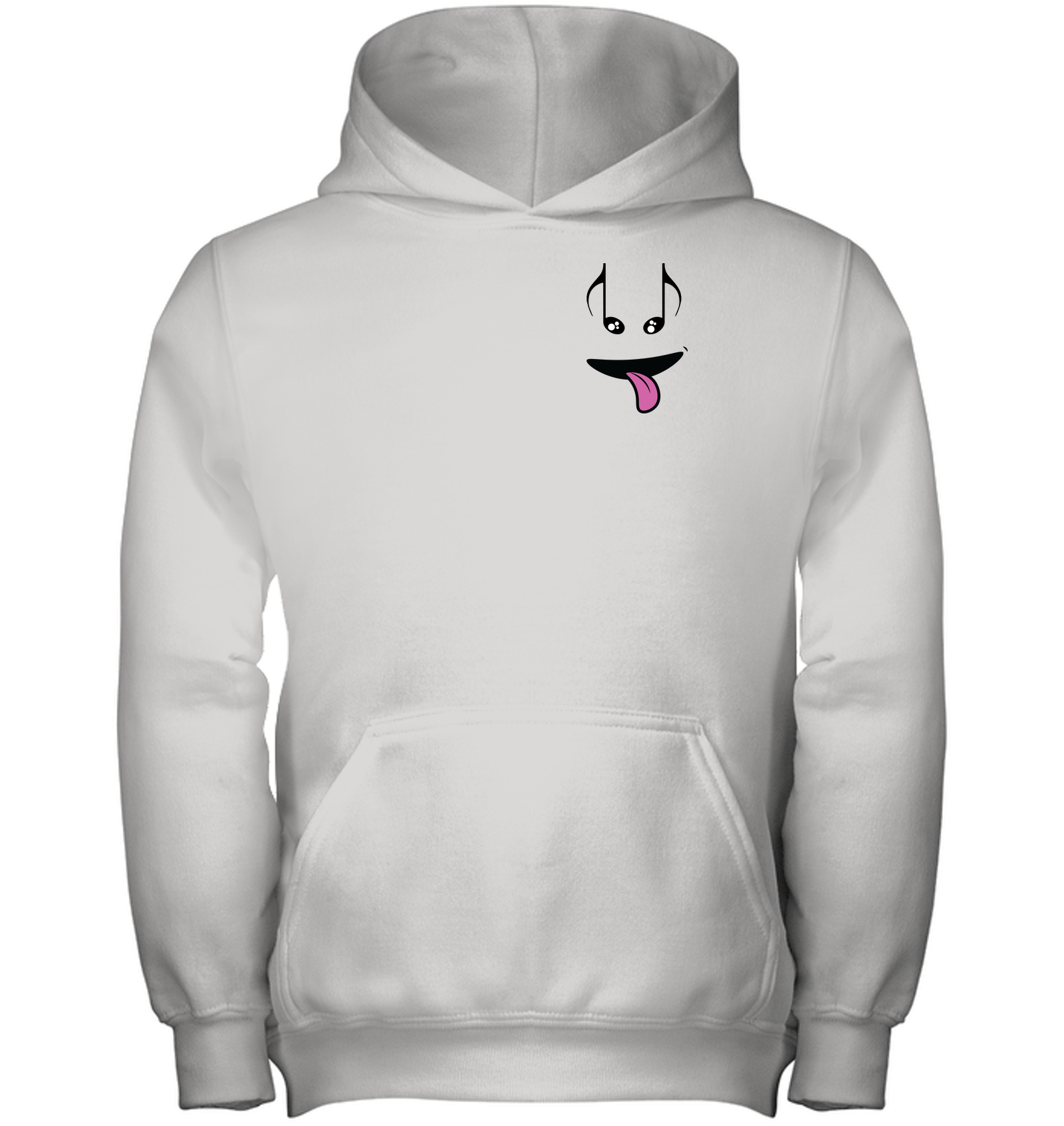 Silly Note Face (Pocket Size) - Gildan Youth Heavyweight Pullover Hoodie