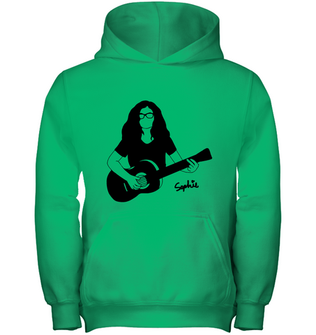 Playin My Guitar, Sophie - Gildan Youth Heavyweight Pullover Hoodie