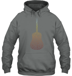 Guitar made of Notes - Gildan Adult Heavy Blend™ Hoodie