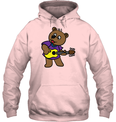 Bear Playing Guitar - Gildan Adult Heavy Blend™ Hoodie