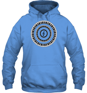 Piano Keys Circle - Gildan Adult Heavy Blend™ Hoodie