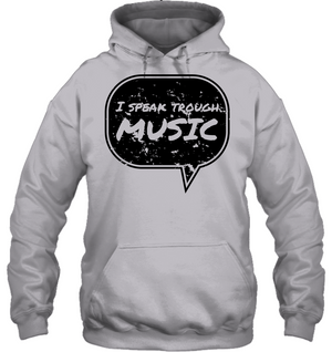 I speak through Music (Black) - Gildan Adult Heavy Blend™ Hoodie