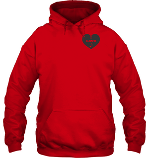 I Love Note Heart (Pocket Size) - Gildan Adult Heavy Blend™ Hoodie