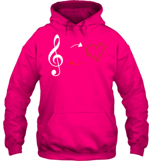 Treble Heart Duo - Gildan Adult Heavy Blend™ Hoodie