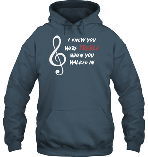 I Knew You Were Treble - Gildan Adult Heavy Blend™ Hoodie