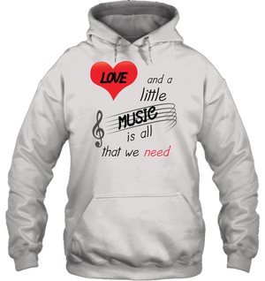 Love and a Little Music is all that we need - Gildan Adult Heavy Blend™ Hoodie