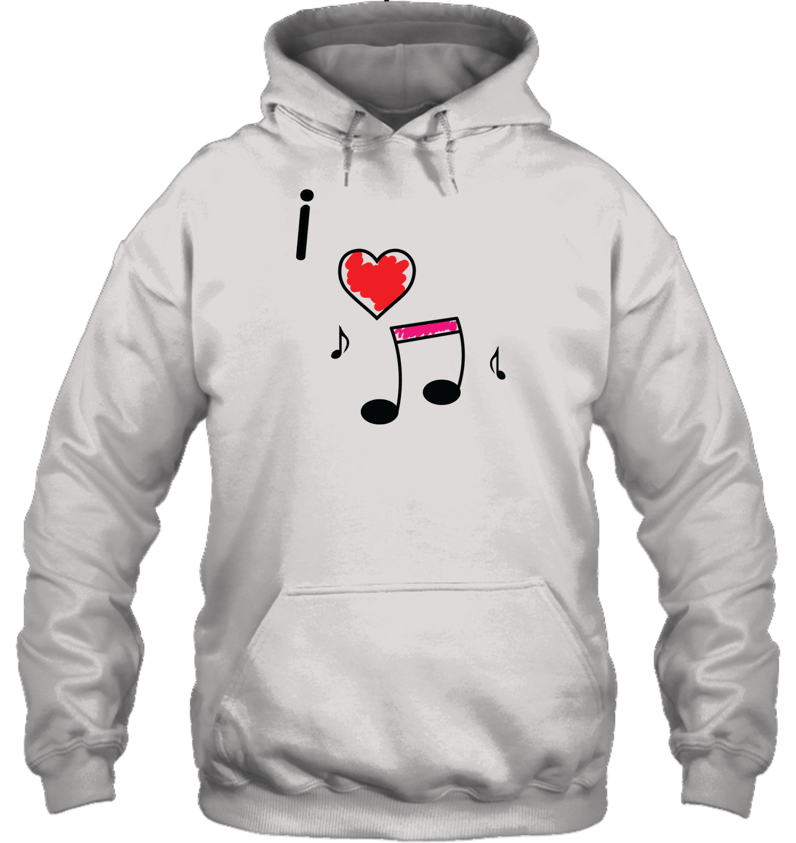 I Love Music Hearts and Fun - Gildan Adult Heavy Blend™ Hoodie