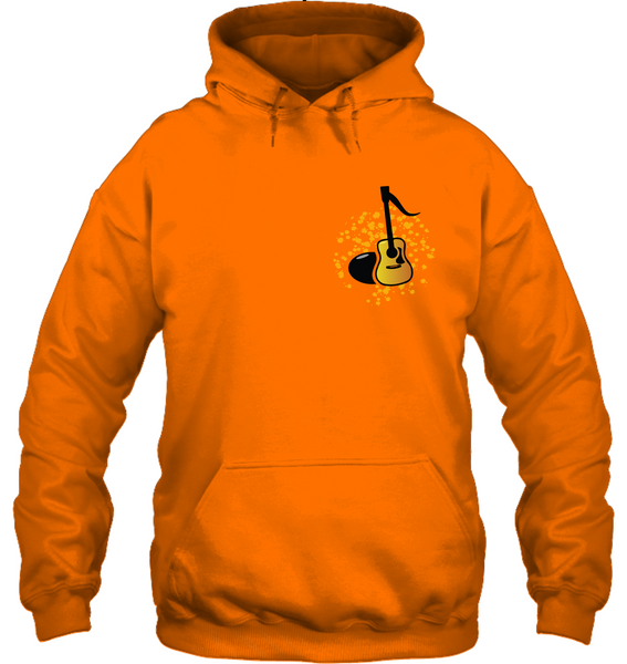 Acoustic Guitar Note (Pocket Size) - Gildan Adult Heavy Blend™ Hoodie