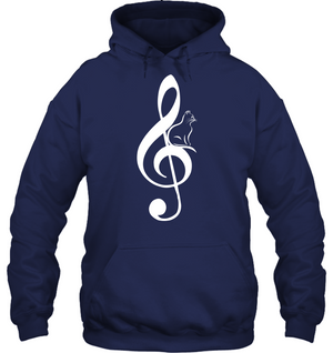 Cat on Treble - Gildan Adult Heavy Blend™ Hoodie