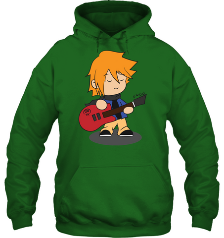 Boy with Guitar - Gildan Adult Heavy Blend™ Hoodie