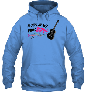 Music is my Philo-Sophie Colorful + Guitar - Gildan Adult Heavy Blend™ Hoodie