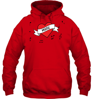 Musical Heart - Gildan Adult Heavy Blend™ Hoodie
